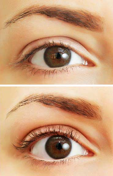beautiful natural lash curl with lash lift